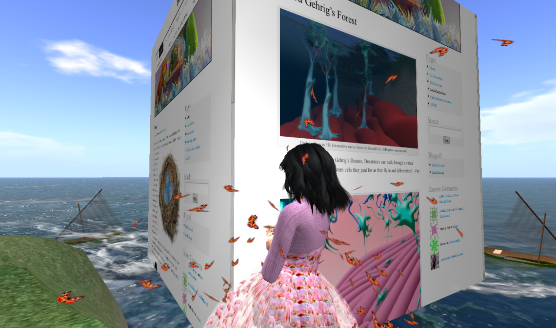 interactive Blog in Second Life