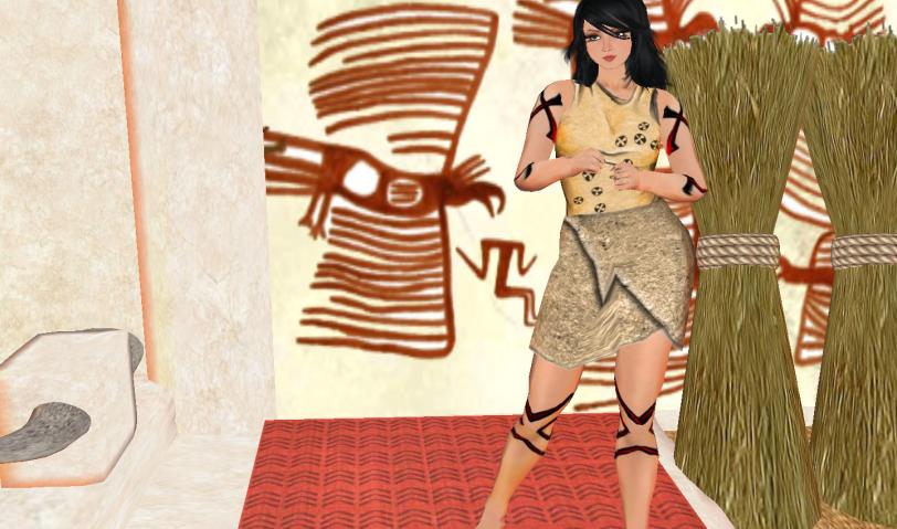 Roselle walking around inside the living quarters