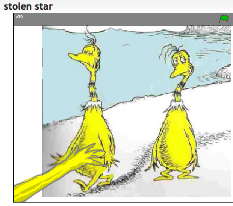 Stolen Star, yellow bellied Sneetches