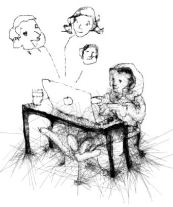 Gamer socializing in Game