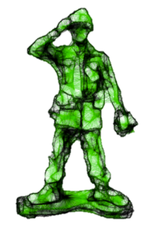 Green army guy no background