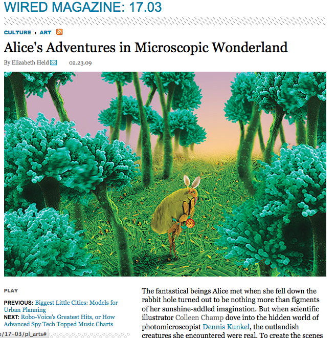 This is another excerpt from Alice's Adventures in a Microscopic Wonderland, which Wired printed in 2009.