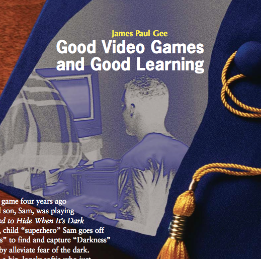 jim gee what is literacy Learning principles in his book, what video games have to teach us about learning and literacy, james paul gee derives a set of learning principles from his study of the complex, self-directed learning each game player undertakes as s/he encounters and masters a new game.